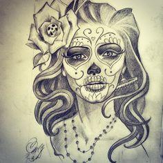 Catrina Tattoo Tumblr De la nada creamos, -  #catrina #custome #tattoo