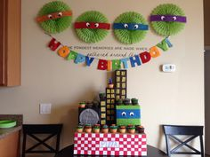 Teenage Mutant Ninja Turtle cupcake stand!