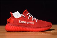 da7f42b1e Top quality Supreme x adidas Yeezy Boost 350 Red White Hot Sale