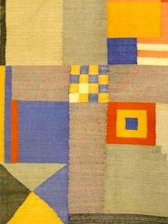 Benita Otte, Rug design for a child's room (detail), Bauhaus, 1923 Stephen Ellcock Bauhaus Textiles, Motifs Textiles, Textile Patterns, Floral Patterns, Textile Fiber Art, Textile Artists, Fabric Design, Pattern Design, Art Nouveau