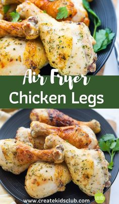 Air Fryer Chicken Legs are crispy and juicy - the ultimate combination. These air fryer chicken drumsticks are not only bursting with flavor but are a meal. Air Fryer Chicken Leg Recipe, Chicken Leg Recipes, Chicken Legs, Cooking Fried Chicken, Easy Family Meals, Family Recipes, Air Fryer Healthy, Chicken Drumsticks, 30 Minute Meals