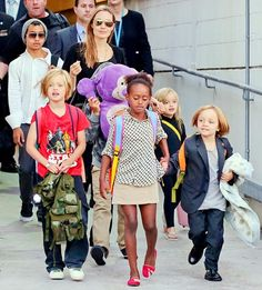 Angelina Jolie -- who adopted Maddox, Pax and Zahara before giving birth to Shiloh and twins Knox and Vivienne with Brad Pitt -- makes an effort to educate her kids about their heritage.