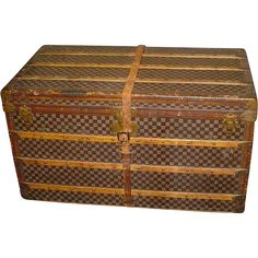 Antique Louis Vuitton Trunk found at www.rubylane.com