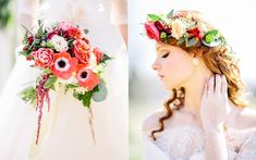 red anemone bouquet - photo by Rachel May Photography http://ruffledblog.com/modern-marie-antoinette-wedding-ideas