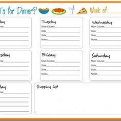 Weekly Meal Planner {Printable} @ http://printable.tipjunkie.com/weekly-meal-planner-printable/