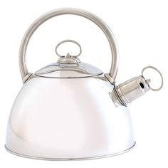 Perfect for an indulgent morning French press or cup of evening chamomile, this whistling kettle brings classic style to your stovetop or pot rack.