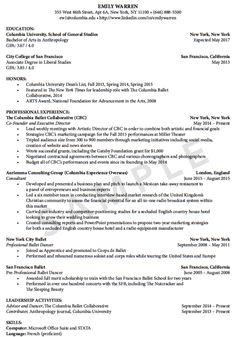 sample professional ballet dance resume httpexampleresumecvorgsample