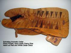 Tiger Maple Backgammon Coffee Table