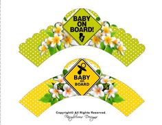 Baby on Board Cupcake Wrappers-LIME GREEN & by FairyliciousDesigns Cupcake Liners, Cupcake Wrappers, Baby Cupcake, Baby Shower Yellow, Baking Party, Cake Boss, Health Desserts, Animal Quotes, Baby Shower Parties
