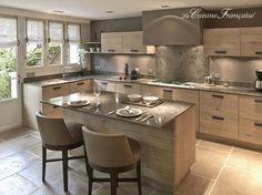 23 veces he visto estas serenas cocinas grandes modernas. Home Kitchens, Kitchen Remodel, Kitchen Diner, Kitchen Dining Room, Kitchen Room Design, Kitchen Room, Kitchen Interior, Interior Design Kitchen, Kitchen Dinning