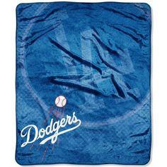 Los Angeles Dodgers MLB Royal Plush Raschel Blanket (Retro Series) (50x60)