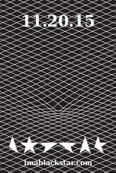 David Bowie's album Blackstar ★ – US flyer. Designer Jonathan Barnbrook