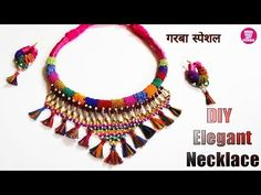 traditional accessories DIY Necklace 2019 How to Make Navratri Jewellery/Ornaments Fabric Jewelry, Beaded Jewelry, Jewellery Diy, Handmade Necklaces, Handmade Jewelry, Navratri Garba, Navratri Special, Burlap Flowers, Girls Jewelry