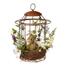 Add eye-catching spring style to your home with this National Tree Company Artificial Easter Bunny Cage Floor Decor. Bunny Cages, Bird Cages, Easter Table, Floor Decor, Easter Crafts, Easter Decor, Easter Ideas, Colorful Flowers, Spring Flowers