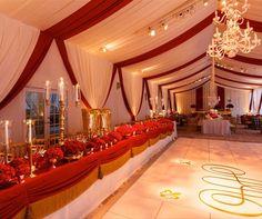 Regal Red & Gold Wedding <3