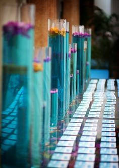 how to make colored water for centerpieces