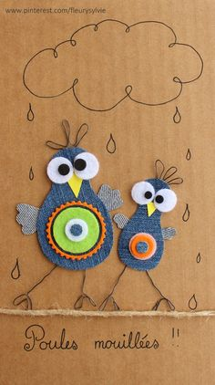 10 Ideas for Recycling that are Actually Genius Jean Crafts, Denim Crafts, Diy And Crafts, Arts And Crafts, Artisanats Denim, Denim Art, Diy For Kids, Crafts For Kids, Fabric Crafts