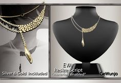 Second Life Marketplace - GeWunjo : EVA gold necklace