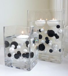 Unique Wholesale Transparent Water Gels Packet Vase Fillers for Floating the Pearls. The Black and White Pearls are Sold Separately Vase Pearlfection Wedding Centerpieces, Wedding Decorations, Table Decorations, Candle Centerpieces, Centerpiece Ideas, Pearl Centerpiece, Simple Centerpieces, Water Beads Centerpiece, Masquerade Party Decorations