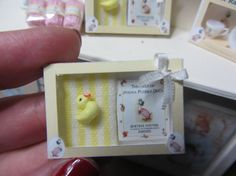 dollhouse miniature Jemima Puddle-Duck gift set for baby