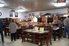 Millers Southern Ohio Amish Furniture Store and Bakery in Adams County near Cincinnati Candy Samples, Outdoor Buildings, Bulk Food, Amish Furniture, Bedroom Sets, Clearance Sale, Bakery, December, Cheese