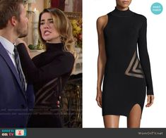 Steffy's black one-sleeved Thanksgiving dress on The Bold and the Beautiful Fashion Tv, Trendy Fashion, Fashion Outfits, Jacqueline Macinnes Wood, Thanksgiving Dressing, Vintage Concert T Shirts, Bold And The Beautiful, Gowns Online, Rocker Chic