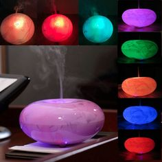 LED Ultrasonic Diffuser Essential Oil Humidifier Air Aromatherapy Purifier Night Light Lamp