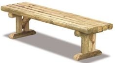 Landscape Timber Bench