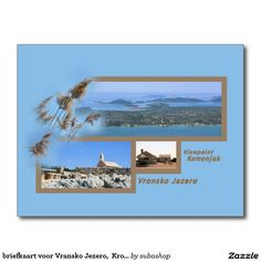 briefkaart voor Vransko Jezero,  Kroatië