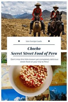 The Best Street Food in Peru. Travel Tip for Foodies: Don't miss out on Chocho, a delicious street food only found in Huaraz, Peru. Travel in South America.