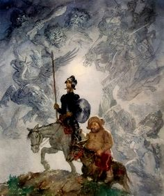Don Quijote by Norman Lindsay