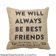 Burlap Best Friends Forever Funny