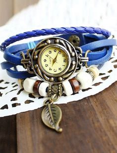 Retro Leave Design Twist Band Watch, Shop online for $7.20 Cheap Watches code 722904 - Eastclothes.com