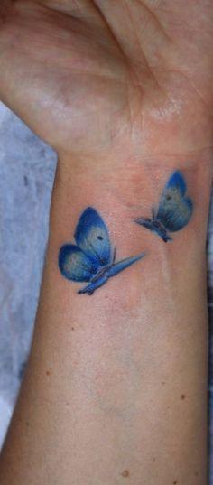 Blue wrist watercolor butterfly tattoo   Tattoomagz.com › Tattoo Designs / Ink-Works Gallery › Tattoo Designs / Ink Works / Body Arts Gallery