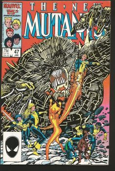 The NEW MUTANTS #47  VF/NM- 1st print & series MARVEL COMICS 1987 GUICEClaremont