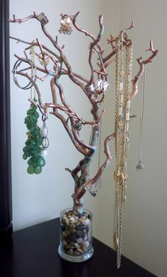 Rusted Copper Manzanita Jewlry Tree- Stunning!