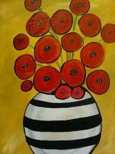 poppies in a vase painting - Google Search