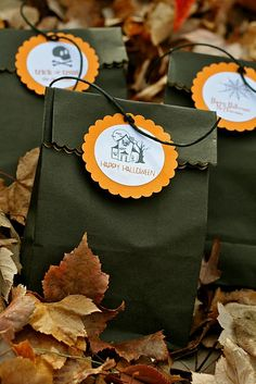 Halloween treat bags.