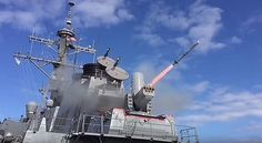 SeaRAM, a new system for guided-missile destroyers, is test fired March 4, 2016 from the guided-missile destroyer USS Porter (DDG 78).