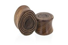 Tree Rings Growth Rings Wood Plugs Gauges from Omerica Organic. Use Rep Code SWEETLE at checkout for 20% off your first purchase!