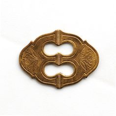 Vintage Brass Escutcheon with Floral Etching and by BeadsHappen, $5.25