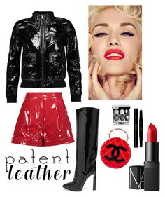 """""""Patent leather Beauty"""" by kotnourka ❤ liked on Polyvore featuring Jimmy Choo, Chanel, Valentino, R13, NARS Cosmetics and Yves Saint Laurent"""