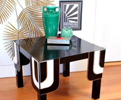 Turn a cheap $5 Ikea Lack table into an Art Deco showstopper with just a little plywood, paint and glue.