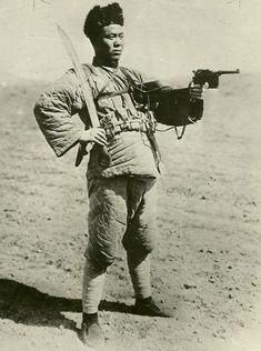Member of the Chinese Northern Warlord Army with a Mauser probably in the 1920's