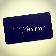 Our NYFW cards!