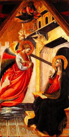 Giovanni dal Ponte, Annunciazione tempera su tavola, 1430, Chiesa di Santa Maria a Poppiena. #angel