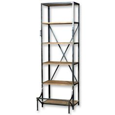 Industrial Bookshelf - Debbie needs something like this for her kitchen :)