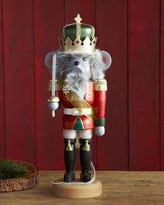 Mouse King Nutcracker by Ulbricht at Horchow.  #horchowholiday14