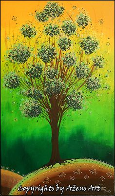 TREE OF HOPE  Mixed media on canvas: 50 x 30 x 2 cm