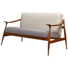 Ico Parisi 'Lord' Settee   From a unique collection of antique and modern sofas at https://www.1stdibs.com/furniture/seating/sofas/